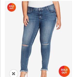 William Rast Distressed Perfect Skinny Jeans 24W